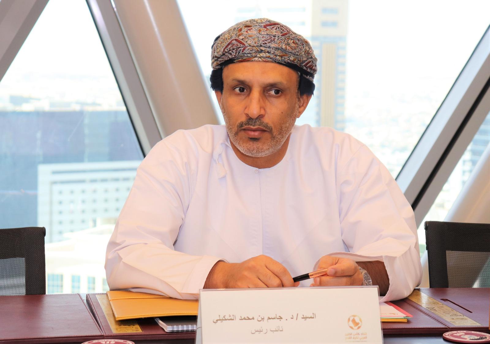 الدكتور جاسم الشيكلي نائب رئيس اتحاد كأس الخليج العربي لكرة القدم