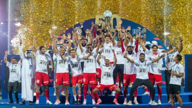 """Photo of Shabab Al-Ahly is the champion of """"The 50th Cup"""""""