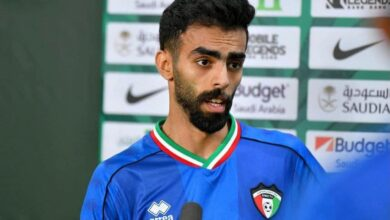Photo of Kuwaiti national team player Ahmed Al-Dhafiri: We aspire to qualify, and good organization is not strange to Qatar