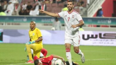 Photo of Mabkhout of UAE.. Asia and Gulf top scorer completes thirty